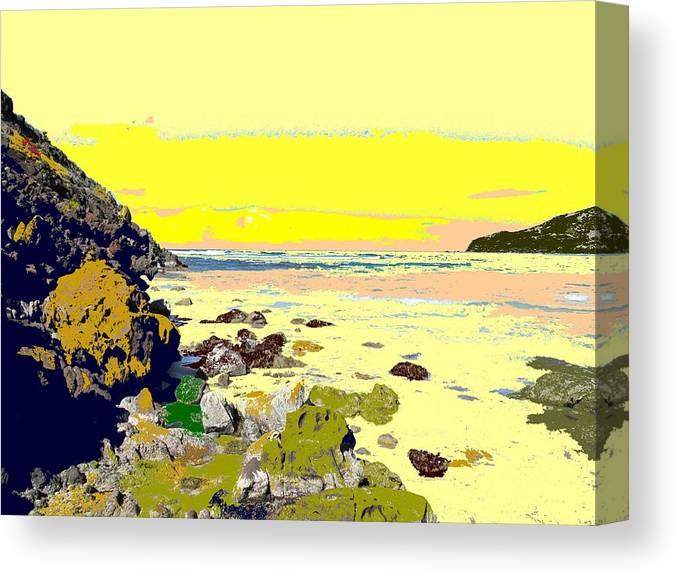 Beach Canvas Print featuring the photograph Rocky Beach by Ian MacDonald