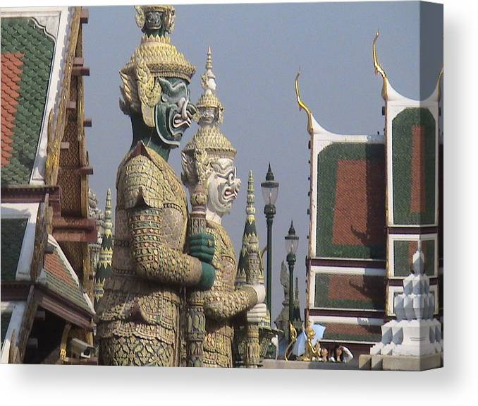 Travel Canvas Print featuring the photograph Royal Guardians by William Thomas