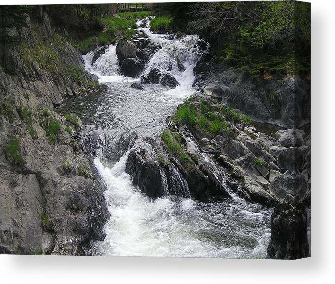 Waterfalls Canvas Print featuring the photograph Rushing Waterfalls by Allison Prior