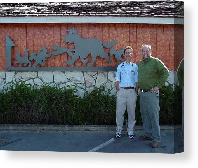 Corporate Commissions Canvas Print featuring the sculpture Salida Veterinary Clinic   Sold by Steve Mudge