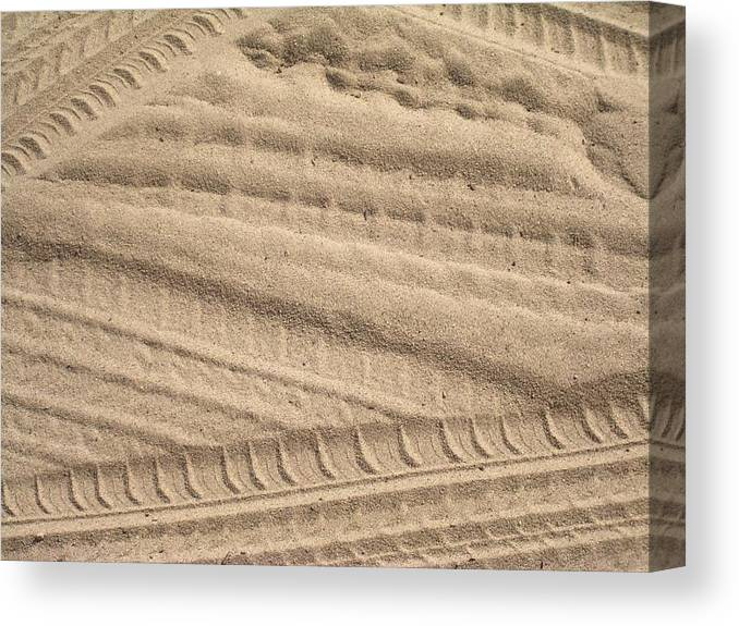 Sand Canvas Print featuring the photograph Sand Tracks by Torie Beck