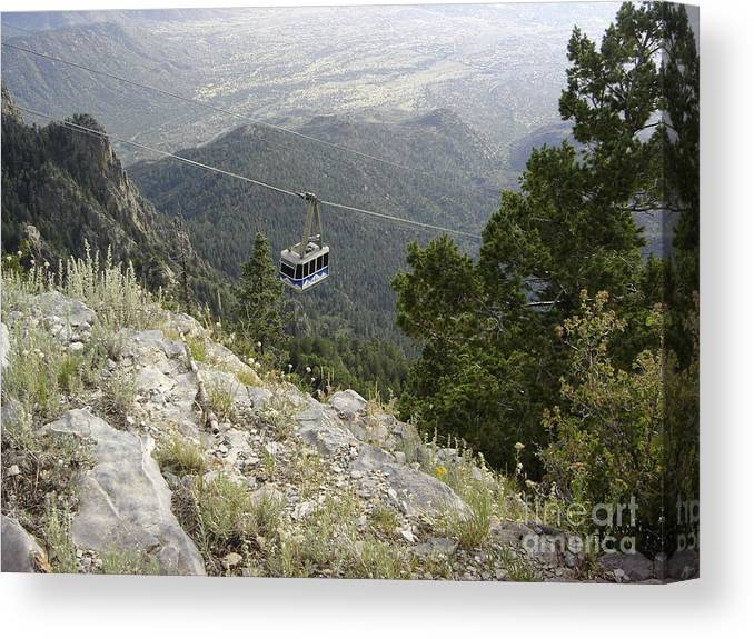 Tram Canvas Print featuring the photograph Sandia Tram by Mary Rogers