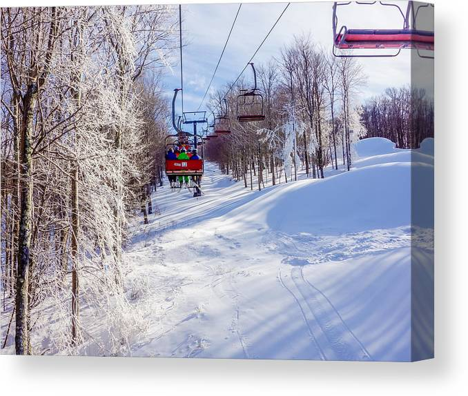 Scenery Canvas Print featuring the photograph Scenery Around Timberline Ski Resort West Virginia by Alex Grichenko