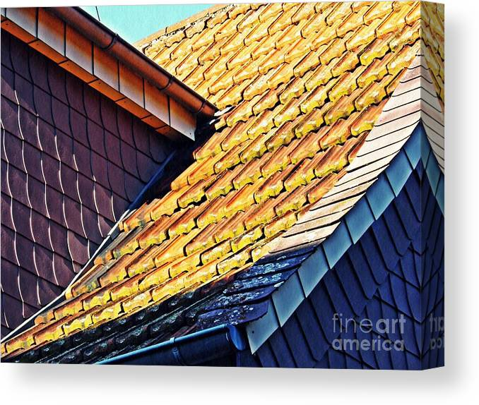 Building Canvas Print featuring the photograph Schierstein Geometrics 4 by Sarah Loft