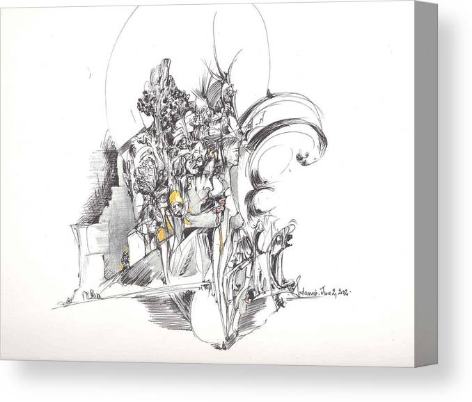 Forms Canvas Print featuring the drawing Sculpted Forms by Padamvir Singh