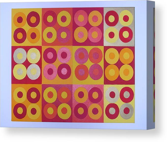 Squares Canvas Print featuring the painting Seeing Red Squared by Gay Dallek