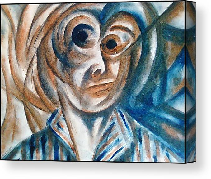 Self-portrait Canvas Print featuring the digital art Self-portrait by Paulo Zerbato