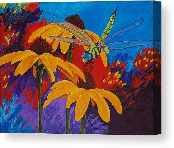 Daisy Canvas Print featuring the painting Serenity by Karen Dukes