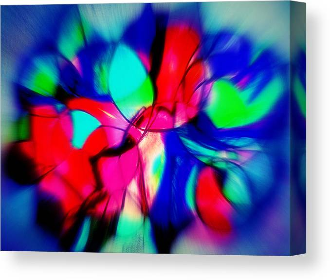 Abstract Canvas Print featuring the mixed media Shapes Our Lives by Beth Aragon