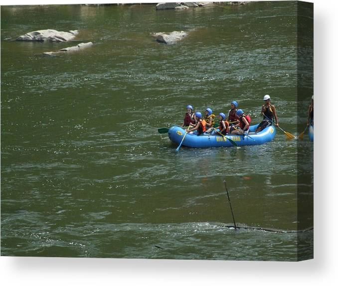 River Canvas Print featuring the photograph Shenandoah Rafters by Michael L Kimble