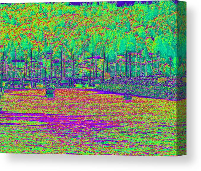 Trees Canvas Print featuring the photograph Shilshole Bay Marina by Maro Kentros