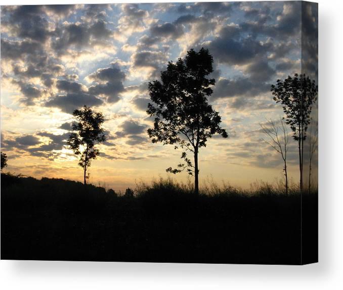 Landscape Canvas Print featuring the photograph Silhouette by Rhonda Barrett