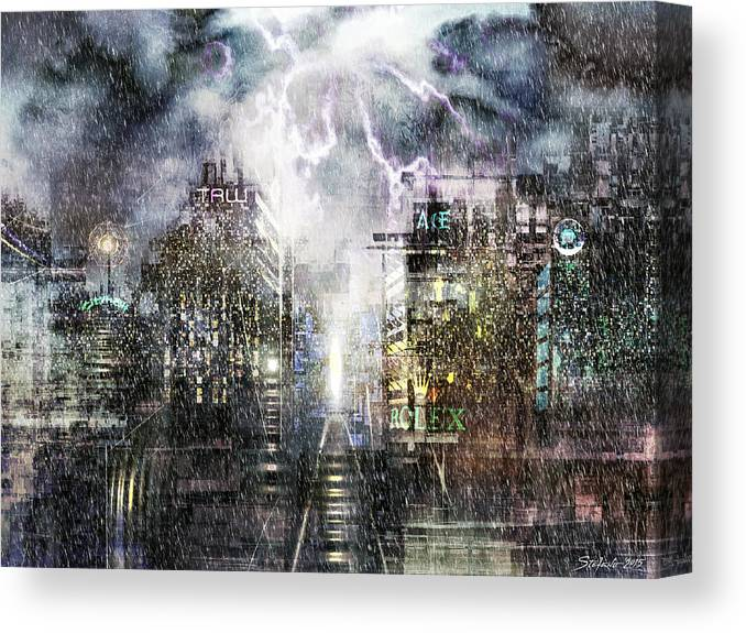 Art Canvas Print featuring the painting Sin City IIi by Stefano Popovski