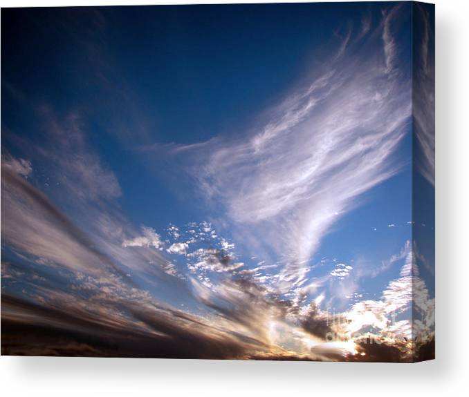 Skies Canvas Print featuring the photograph Sky by Amanda Barcon