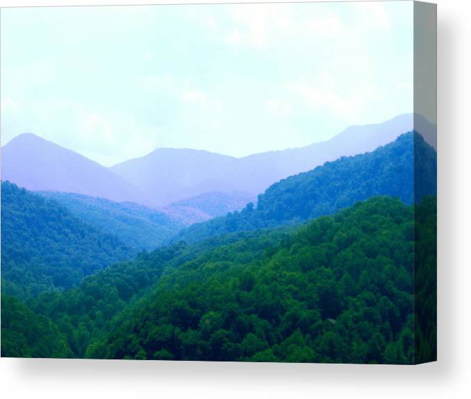 Mountains Canvas Print featuring the photograph Smokies In Spring by Cat Rondeau