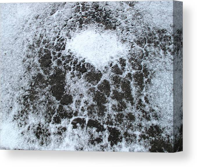 Snow Canvas Print featuring the digital art Snow Patterns by Lyle Crump