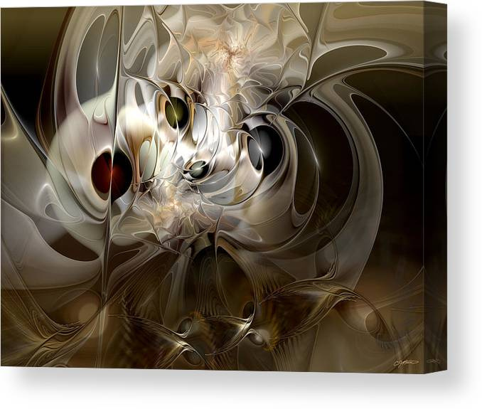 Abstract Canvas Print featuring the digital art Spiritual Chops by Casey Kotas