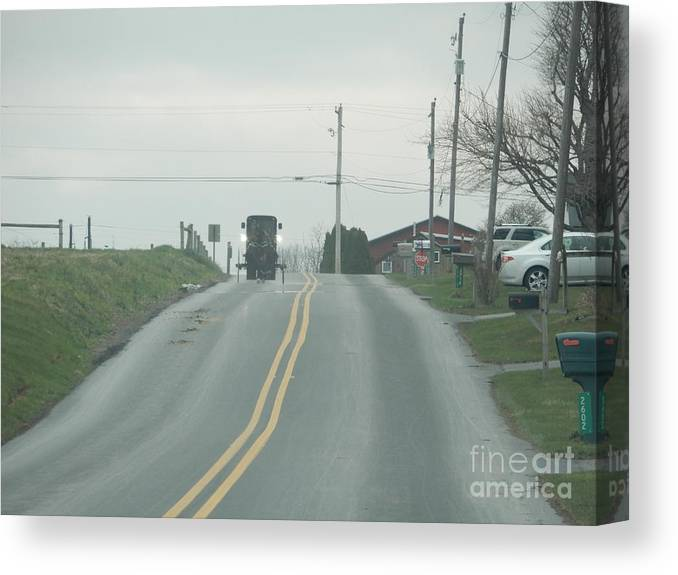Amish Canvas Print featuring the photograph Spring Afternoon Buggy Ride by Christine Clark