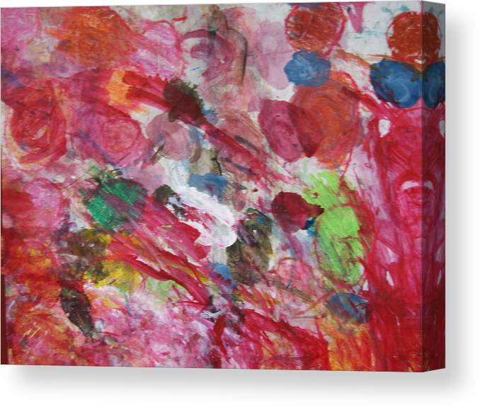 Spring Canvas Print featuring the mixed media Spring by Kim Putney