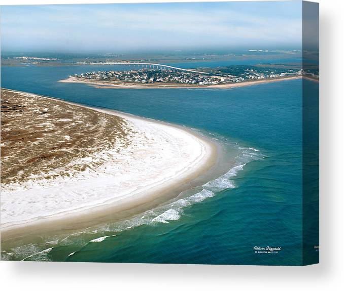 St Augustine Canvas Print featuring the painting St Augustine Inlet by Addison Fitzgerald