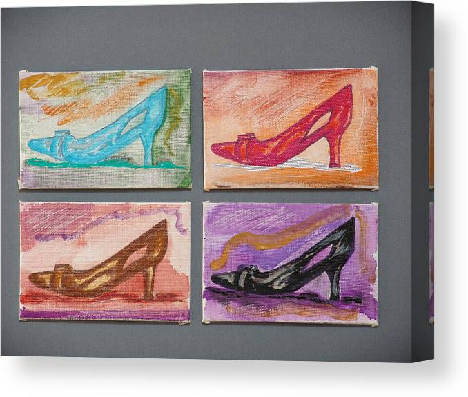 Shoes Canvas Print featuring the painting St Johns 5th Avenue by Kevin Callahan