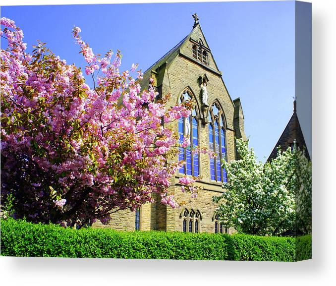 Church Canvas Print featuring the photograph St Marys Church by Jacqui Kilcoyne