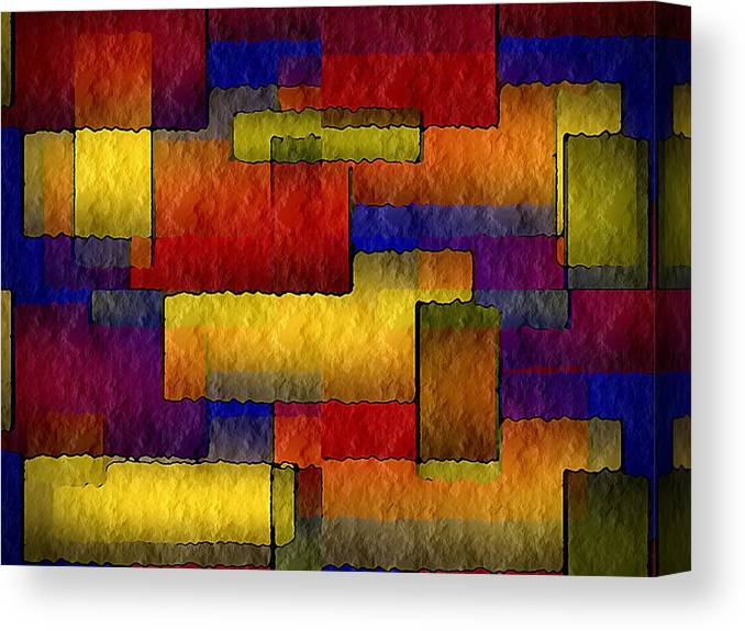 Stained Canvas Print featuring the painting Stained Glass Wall by Terry Mulligan