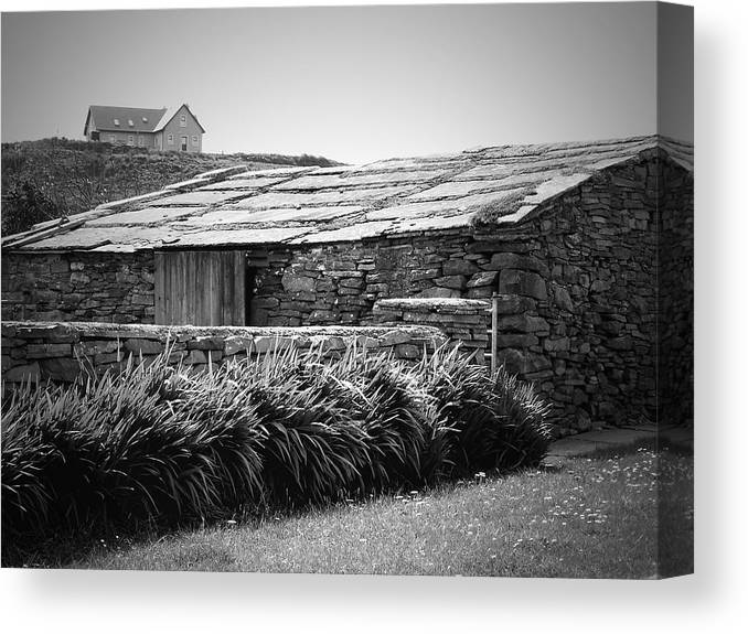 Irish Canvas Print featuring the photograph Stone Structure Doolin Ireland by Teresa Mucha
