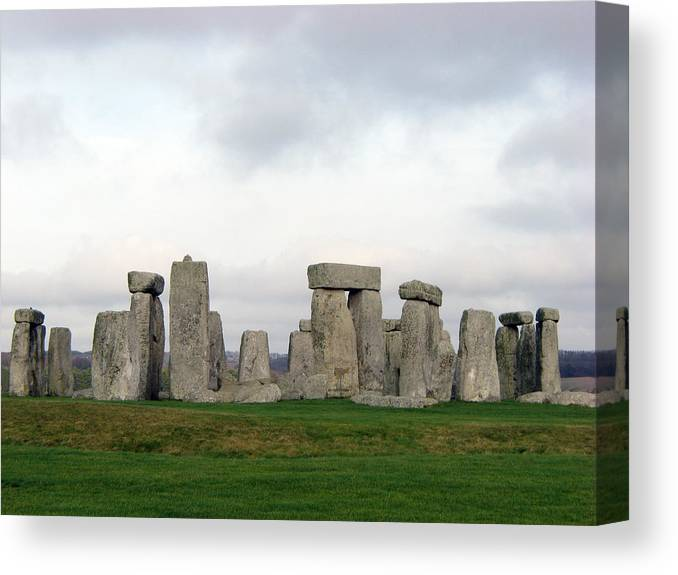 Stonehenge Canvas Print featuring the photograph Stonehenge by Amanda Barcon
