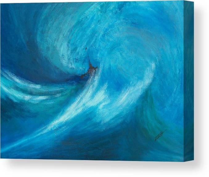 Landscape Canvas Print featuring the painting Storm by Dennis Vebert