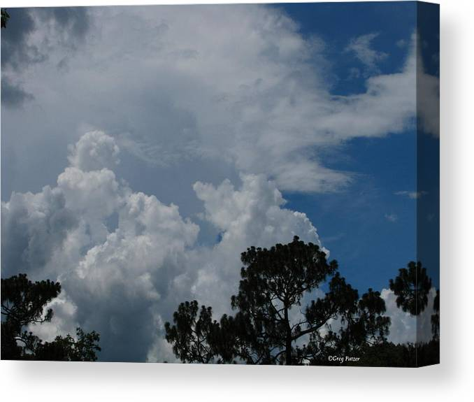 Patzer Canvas Print featuring the photograph Storm Moving In by Greg Patzer