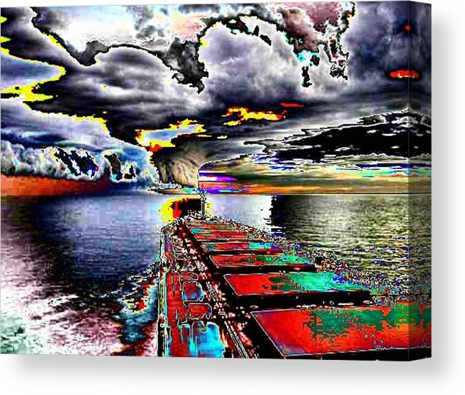 Storm Clouds Canvas Print featuring the photograph Storm Warning by Tim Allen
