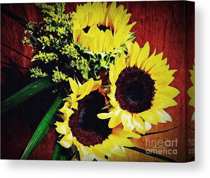 Sunflower Canvas Print featuring the photograph Sunflower Decor 3 by Sarah Loft