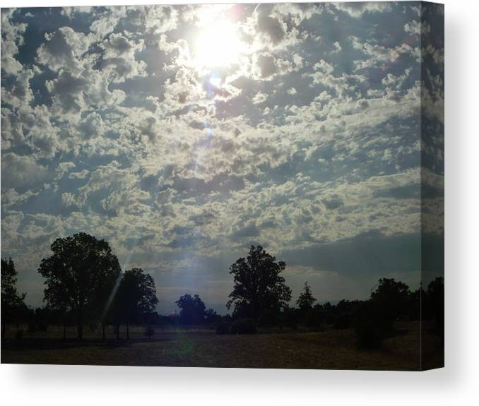 Sunlight Beam- Ultra-violet Canvas Print featuring the photograph Sunlight- Ultra- Violet II by Edward Wolverton