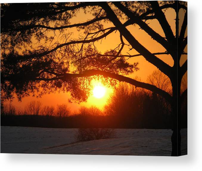 Sunset Canvas Print featuring the photograph Sunset In Rising Sun by Martie DAndrea