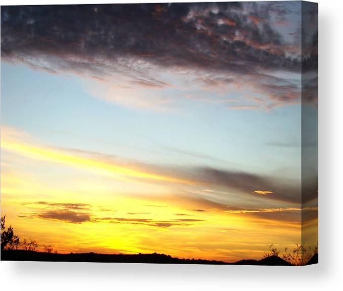 Sunset Canvas Print featuring the photograph Supernatural Sunset One by Ana Villaronga