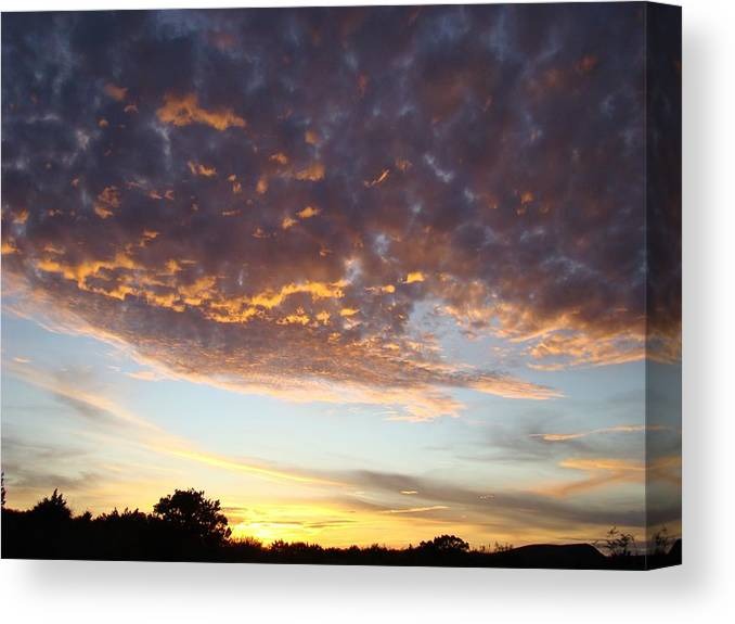 Sky Canvas Print featuring the photograph Supernatural Sunset Two by Ana Villaronga