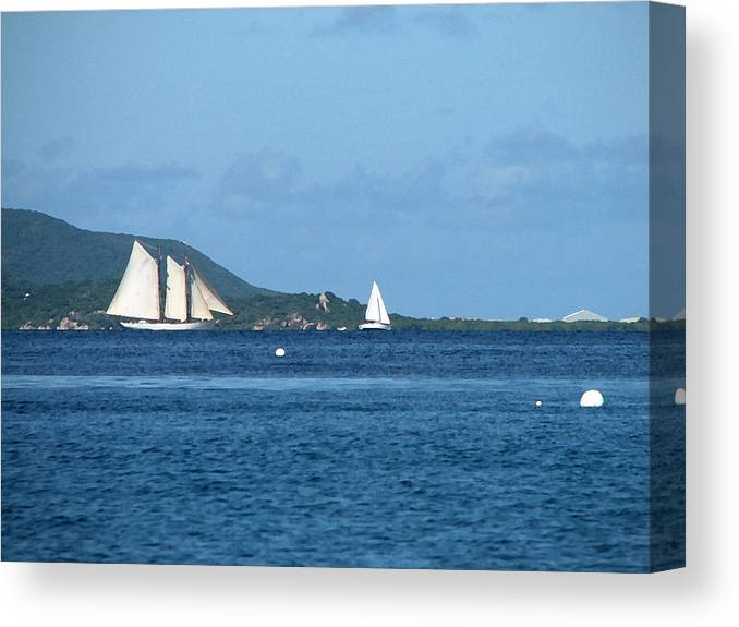 Caribbean Canvas Print featuring the digital art Swept Away by Ginger Howland