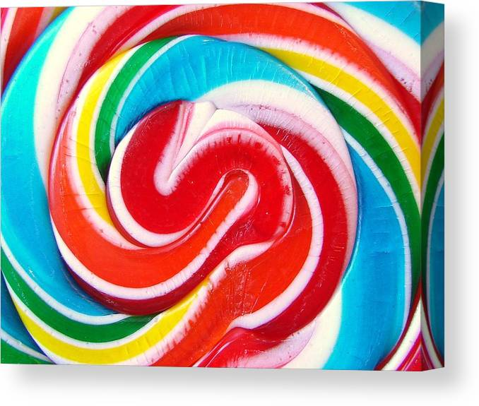 Candy Canvas Print featuring the photograph Swirl Of Happiness by Jennifer Lauren