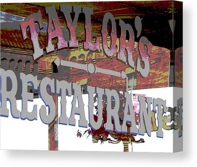 Cafe Canvas Print featuring the photograph Taylors by Audrey Venute