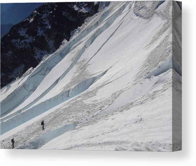 Mount Rainier Canvas Print featuring the photograph The Ascent by Mark Camp