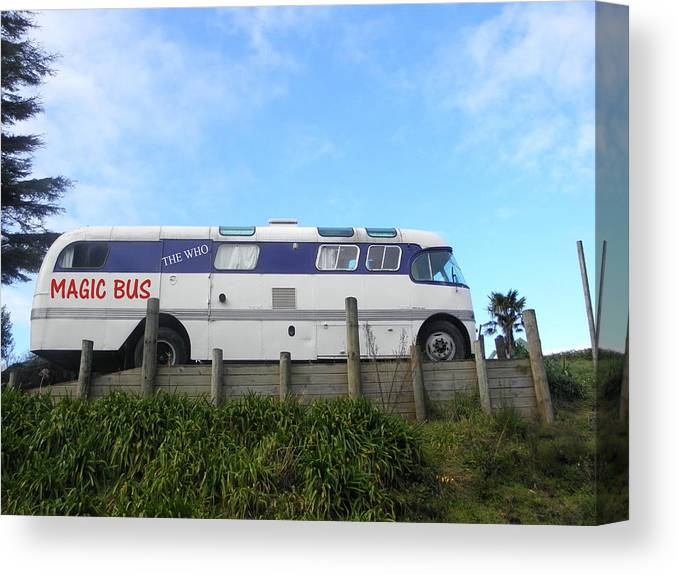 Who Canvas Print featuring the photograph The Magic Bus by Paul Pettingell