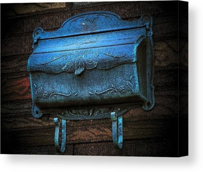 Mailbox Canvas Print featuring the photograph The Mailbox by Michael L Kimble