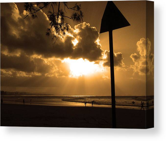 Sun Canvas Print featuring the photograph The Pass Byron Bay by Edan Chapman