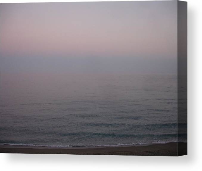Seascape Canvas Print featuring the painting The Sea Oh The Sea by Roger Cummiskey