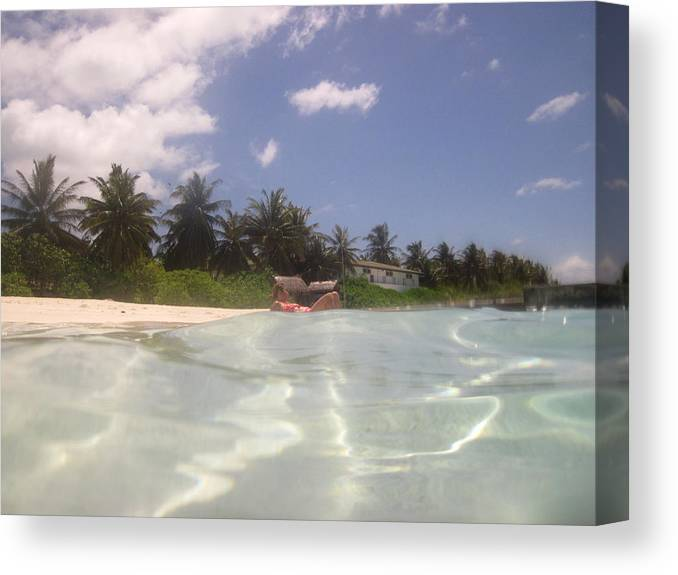 The Maldives Canvas Print featuring the photograph The Ultimate Holiday by Andrei Fried