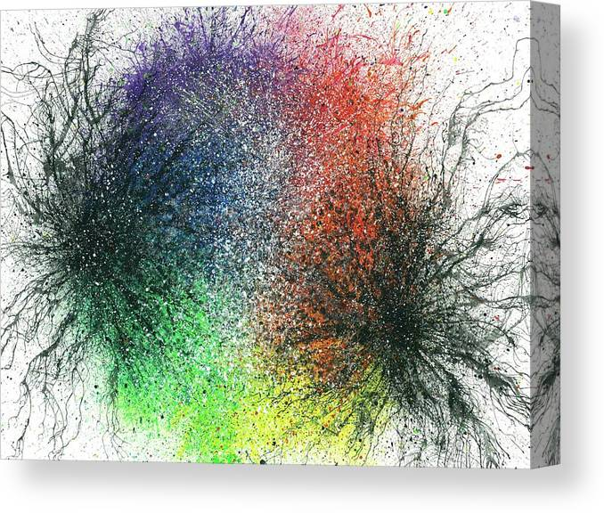 Abstract Canvas Print featuring the painting The Warriors Of The Rainbow #704 by Rainbow Artist Orlando L