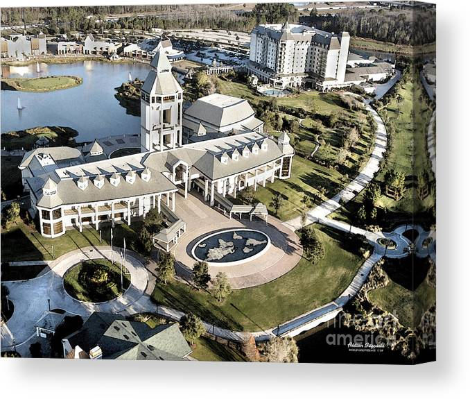 Golf Canvas Print featuring the painting The World Golf Village by Addison Fitzgerald