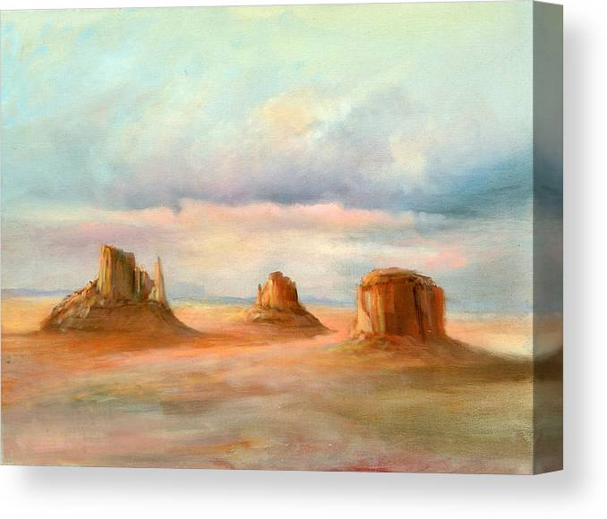 Southwest Canvas Print featuring the painting Three Kings by Sally Seago