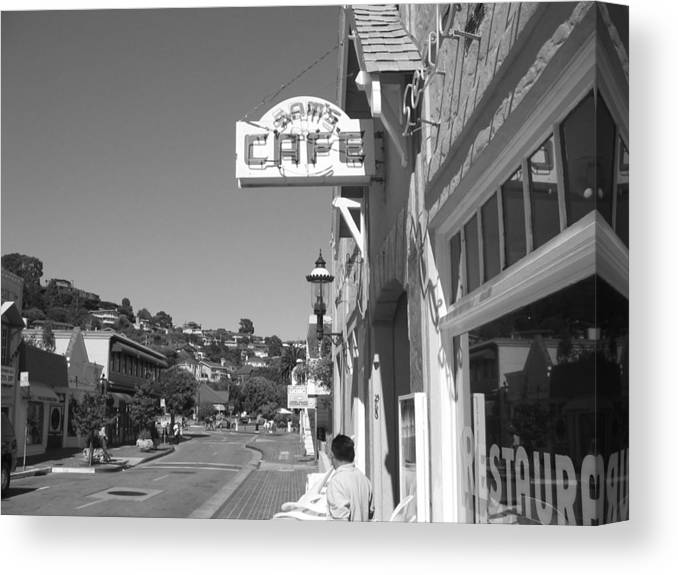 Tiburon Canvas Print featuring the photograph Tiburon by Christine Burrell